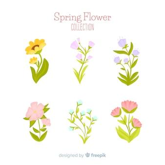 Coleção de flores de primavera