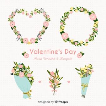 Coleção de flores do dia dos namorados