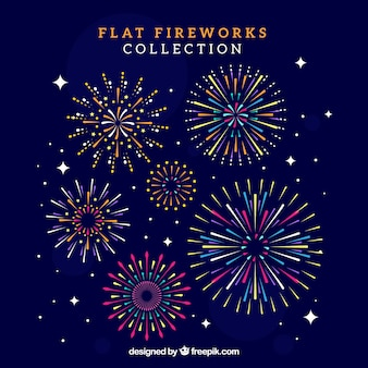 Coleção de fogo de artifício
