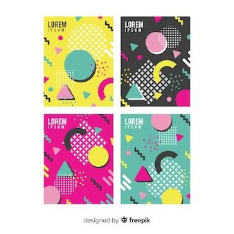 Coleção de folheto colorido memphis