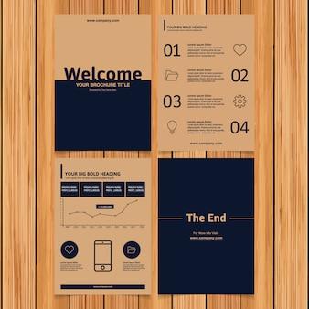 Coleção de folhetos comerciais de papelão