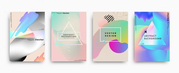 Coleção de folhetos geométricos abstrac