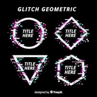 Coleção de forma geométrica de falha