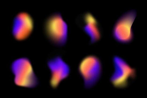 Coleção de forma gradiente granulada gradiente