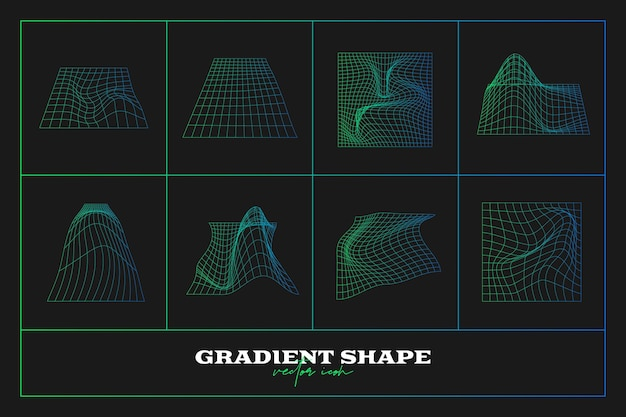 Coleção de formas de ícones geométricos abstratos