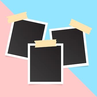 Coleção de fotos polaroid