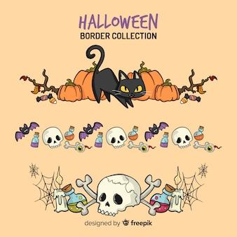 Coleção de fronteira criativa de halloween