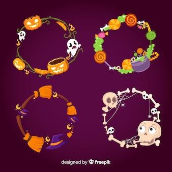 Coleção de fronteira de halloween