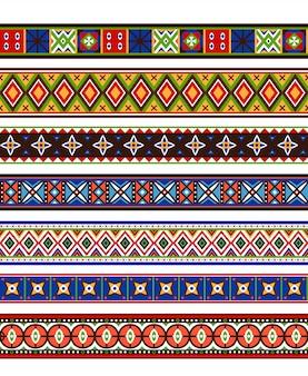 Coleção de fronteiras coloridas