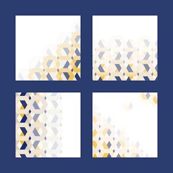 Coleção de fundo 3d padrão hexagonal