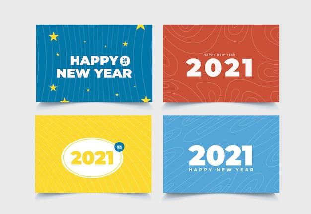 Coleção de fundo abstrato de ano novo de 2021