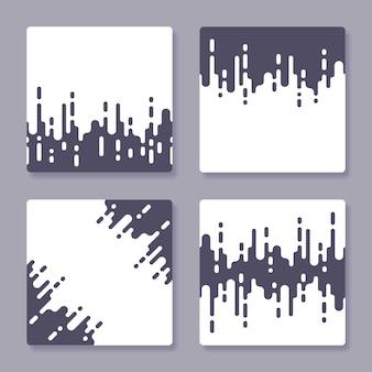 Coleção de fundo de arte abstrata incolor