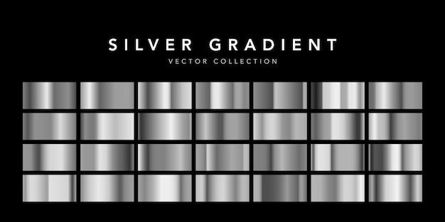 Coleção de fundo de textura de folha de prata