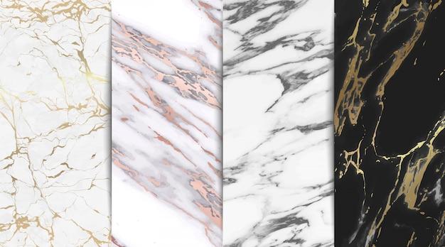 Coleção de fundo de textura de mármore luxo