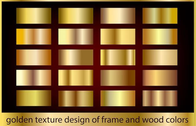 Coleção de fundo de textura de metal ouro