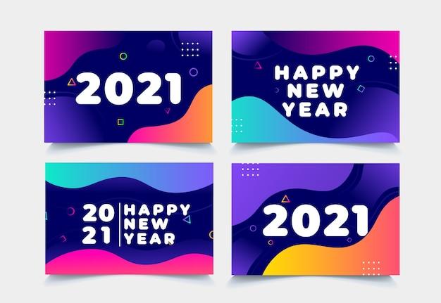 Coleção de fundo do ano novo de 2021