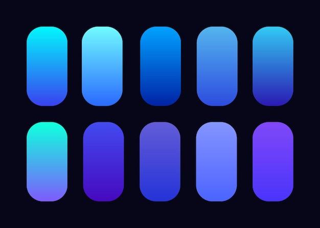 Coleção de fundo gradiente azul claro