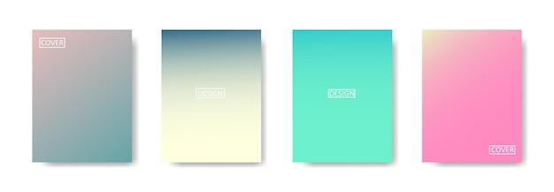 Coleção de fundo gradiente para banner de pôster panfleto