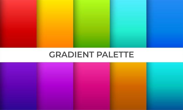 Coleção de fundo gradiente suave colorido