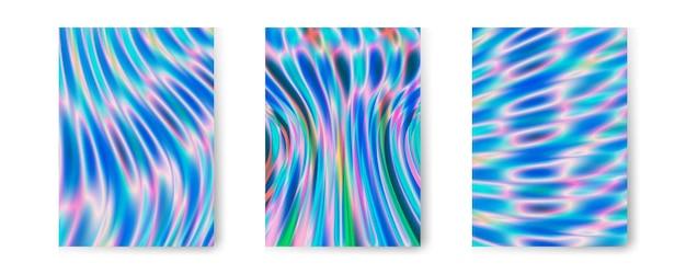 Coleção de fundo holográfico iridescente
