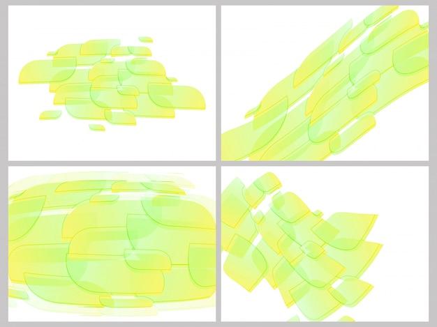 Coleção de fundo verde abstrato.