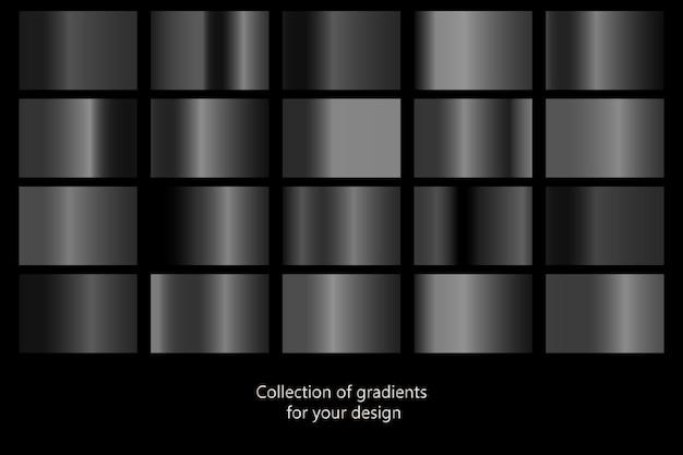 Coleção de fundos gradientes pretos.