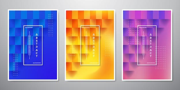 Coleção de fundos texturizados quadrados