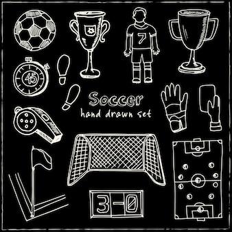 Coleção de futebol desenhada à mão
