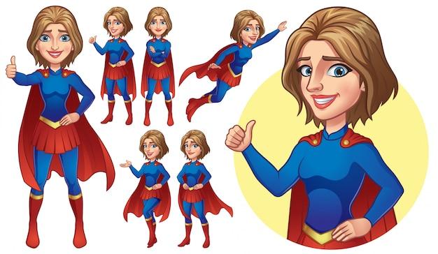 Coleção de garota super-herói