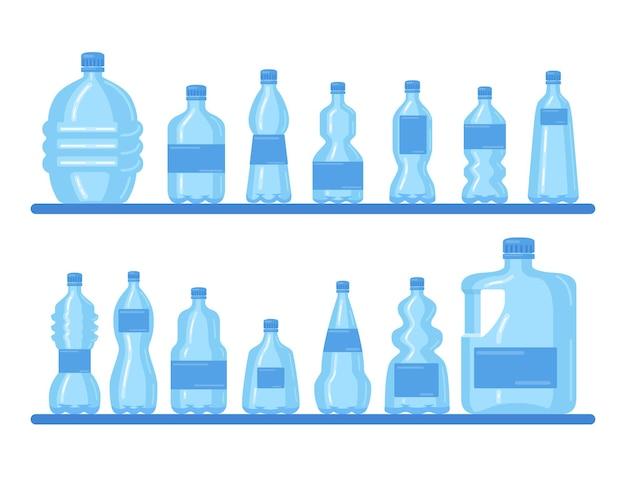 Coleção de garrafas plásticas