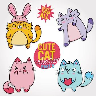 Coleção de gato bonito
