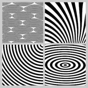 Coleção de geométrica preto e branco em padrão uniforme