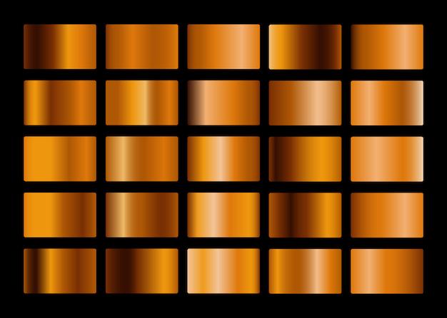 Coleção de gradiente de metal ouro