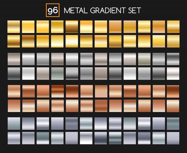 Coleção de gradiente de metal