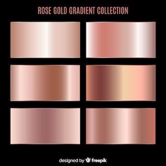 Coleção de gradiente de ouro rosa