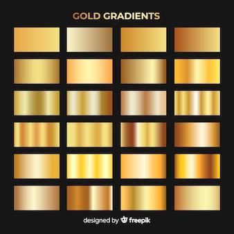 Coleção de gradiente de ouro