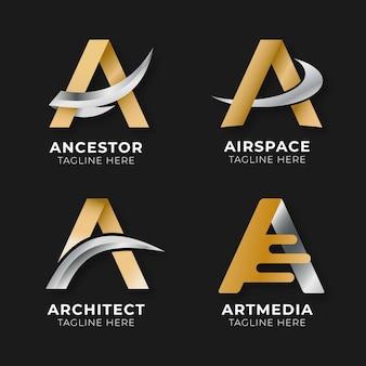 Coleção de gradiente e modelos de logotipo