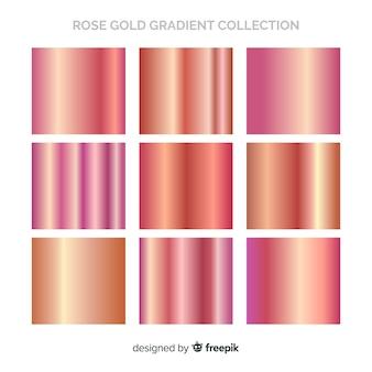 Coleção de gradiente ouro rosa brilhante