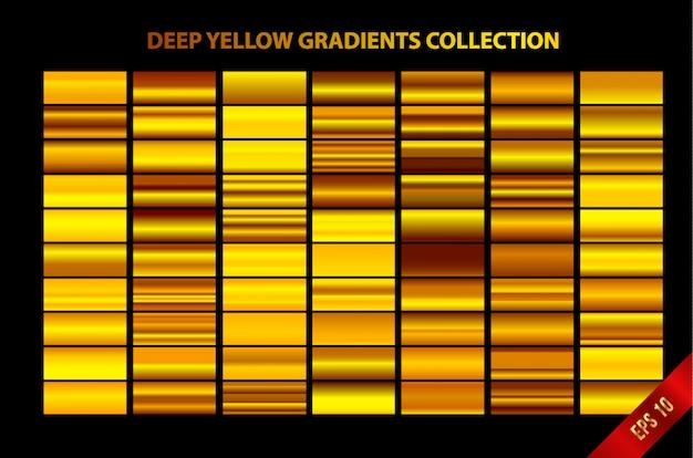 Coleção de gradientes amarelo profundo