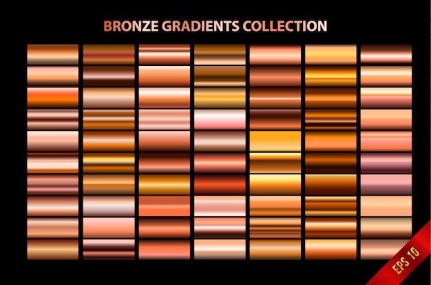 Coleção de gradientes de bronze