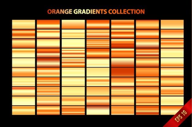 Coleção de gradientes de laranja
