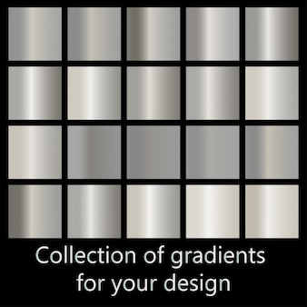 Coleção de gradientes de metal