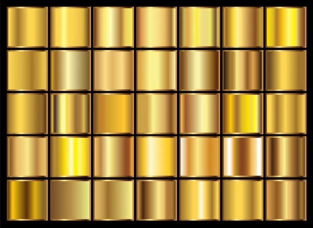 Coleção de gradientes de ouro