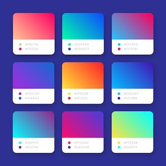 Coleção de gradientes de vetor colorido brilhante abstrato