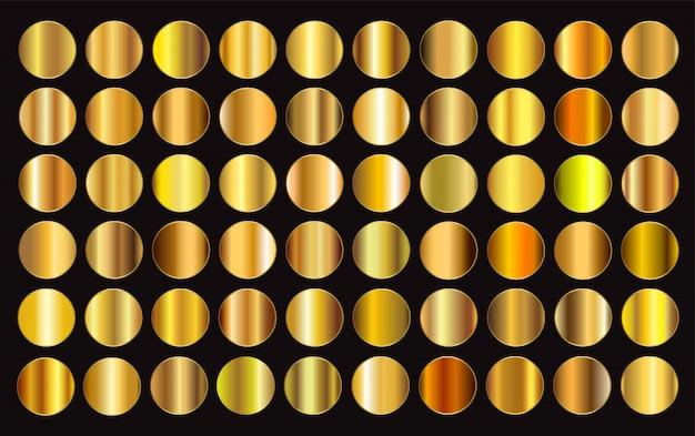 Coleção de gradientes dourados