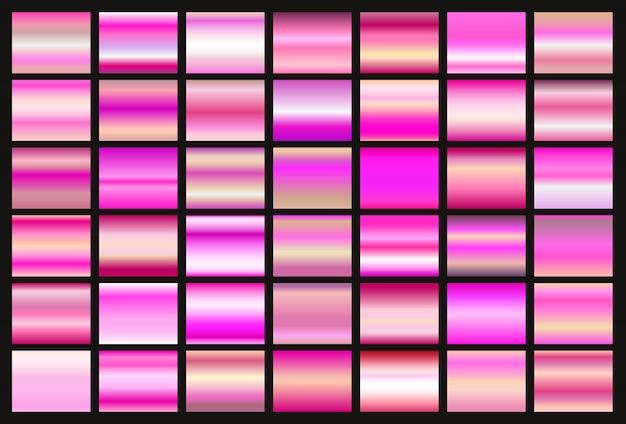 Coleção de gradientes rosa