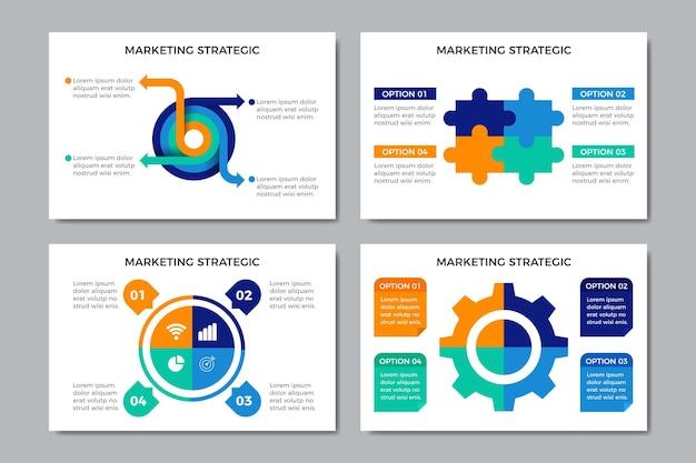 Coleção de gráficos de estratégia com informações importantes
