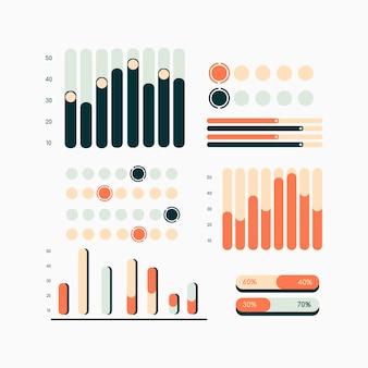 Coleção de gráficos infográfico