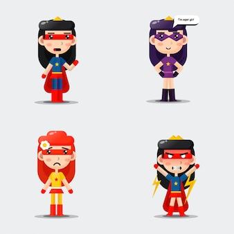 Coleção de heróis super fofos