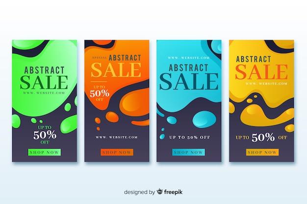 Coleção de história de design abstrato venda instagram